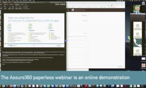 Screenshot from our regular Assure360 Paperless webinar