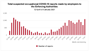monthly breakdown of covid case notifications throughout 2020-2